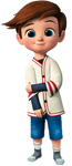 Tim in his Bike/Baseball Outfit (With Shorts) by SeanrailAnimations