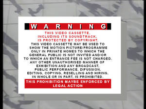 The Video Collection 1986 Warning Card Recreation