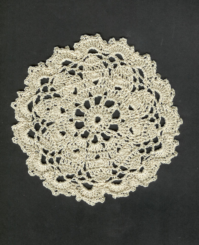 Crocheted Doily by DragonSpark