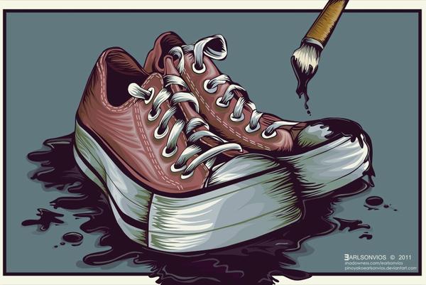 Shoe Paint Shoe by pinoyakoearlsonvios