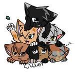 Re-Did Cat Pile by Oak-Storm