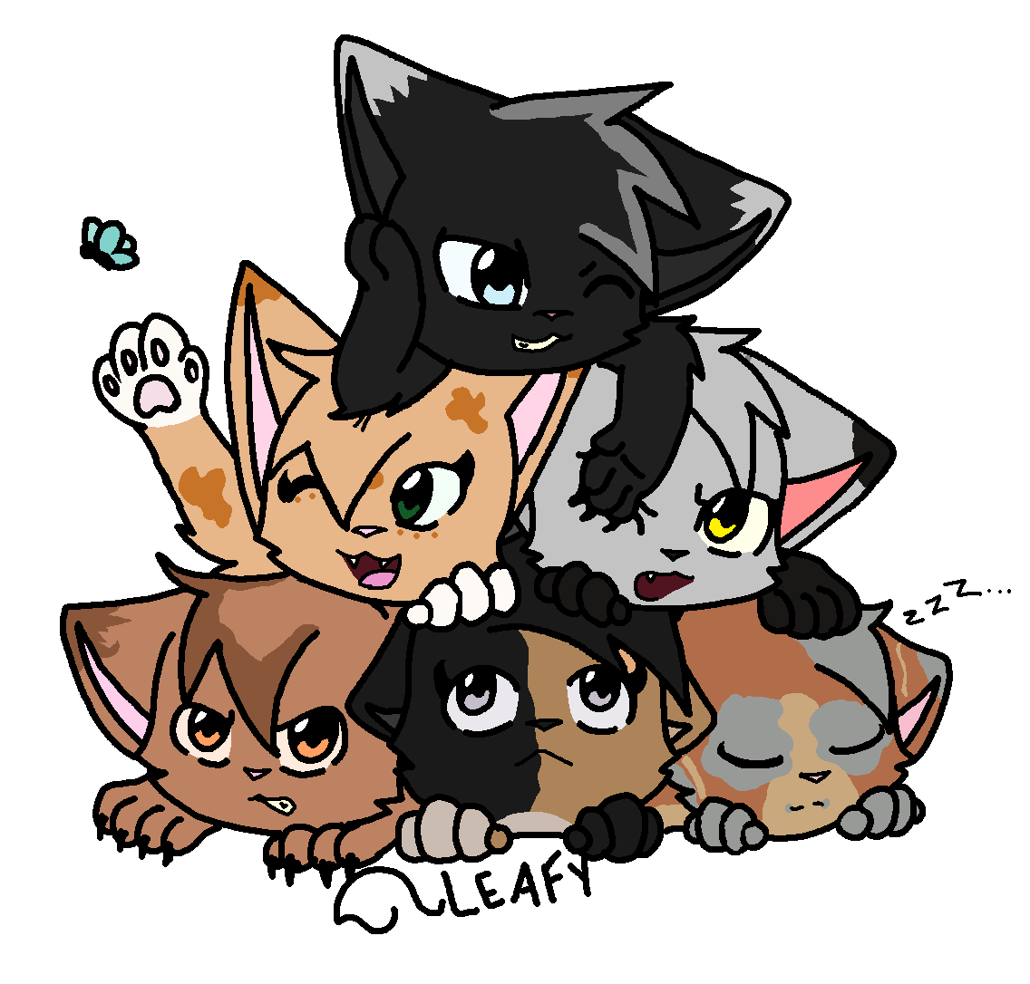 Re-Did Cat Pile by Oak-Storm