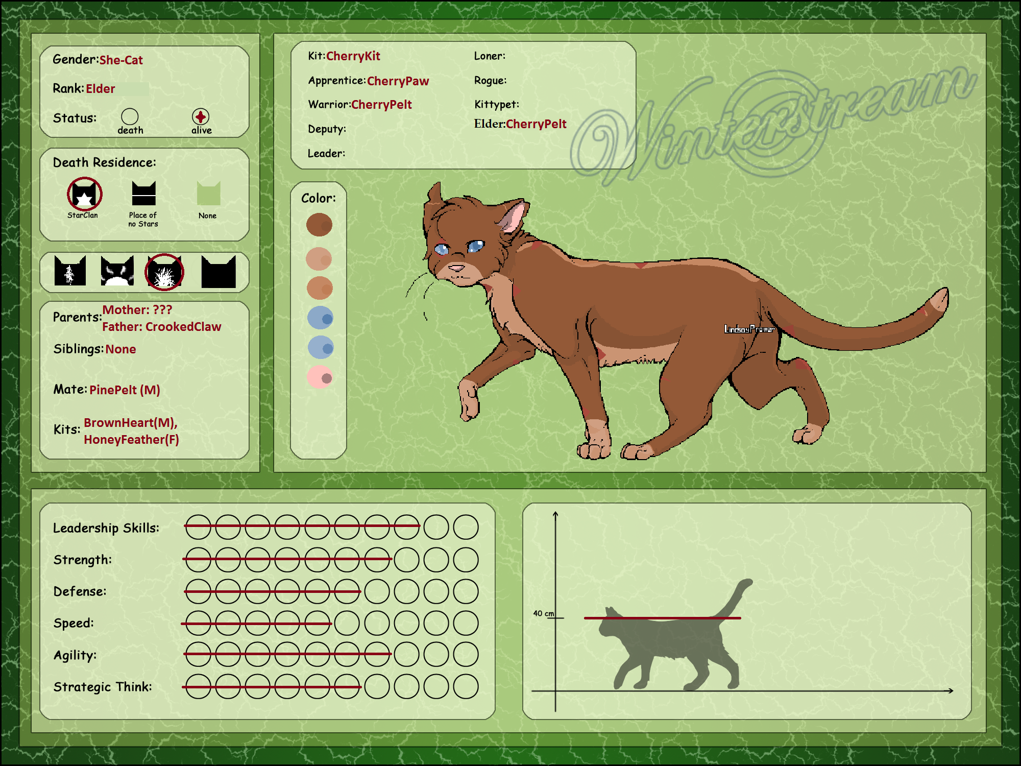 Refrence Sheet: CherryPelt by Oak-Storm
