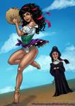 Esmeralda and Frollo