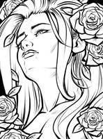 Poison Ivy (line art) by Salamandra88