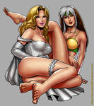 Rogue and Emma Frost