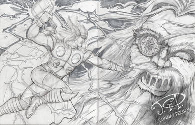 Sketch - Thor Vs. Ice Giant