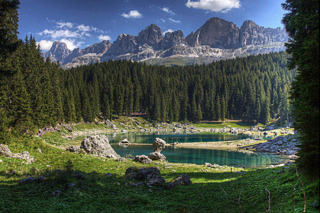Carezza Lake hdr by EyeOfBoa