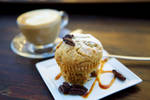Muffin with pecan nuts