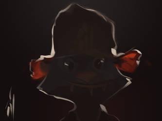 Tompossums realistic portrait