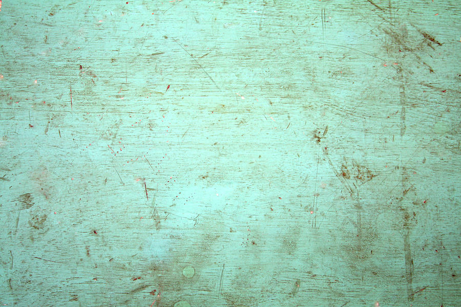 green painted distressed wood