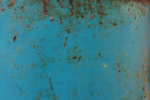 turquoise rusted tin by beckas