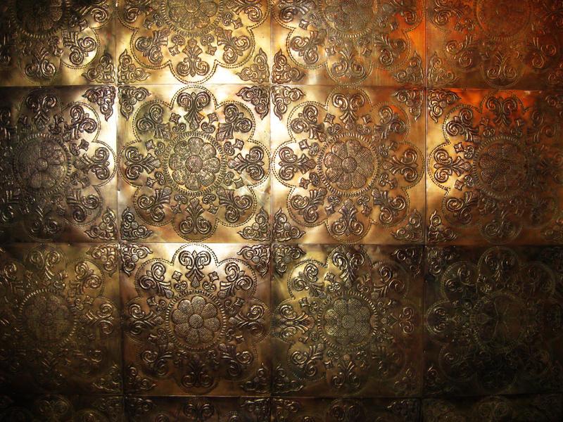 Metal Fabric Texture Bronze Metallic Ornate Texture