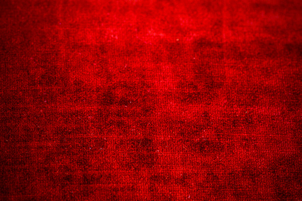red chenille fabric texture