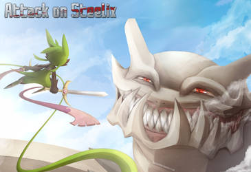 Attack on Steelix by DancingInBlue