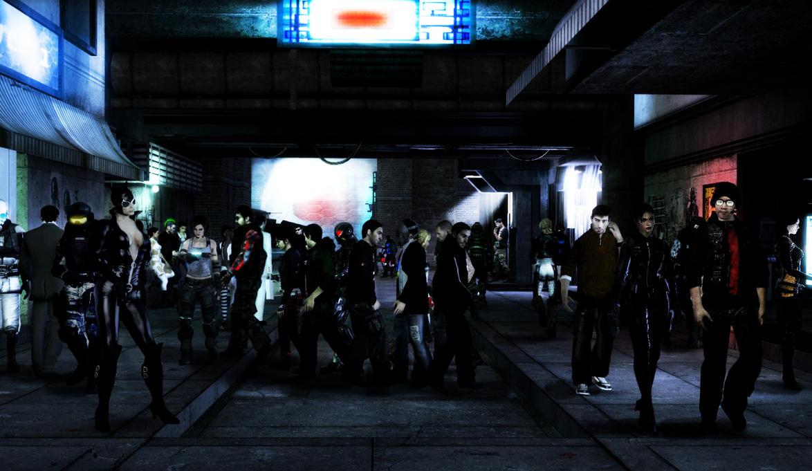 Cyberpunk - Street by Gomios13