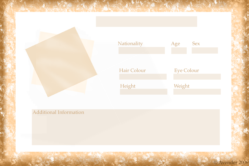Humanoid Species Template v1 by Lectriece on DeviantArt – Profile Templates