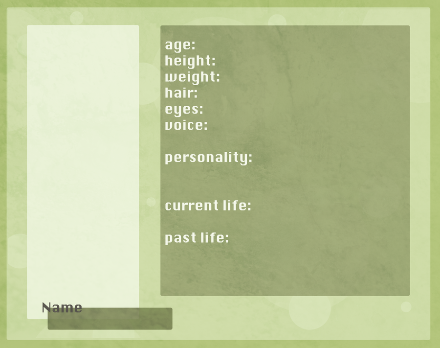 OC PROFILE TEMPLATE by Avender on DeviantArt