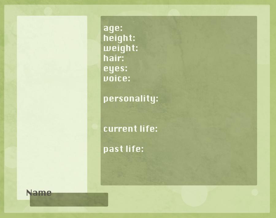 Oc Profile Template By Avender On Deviantart