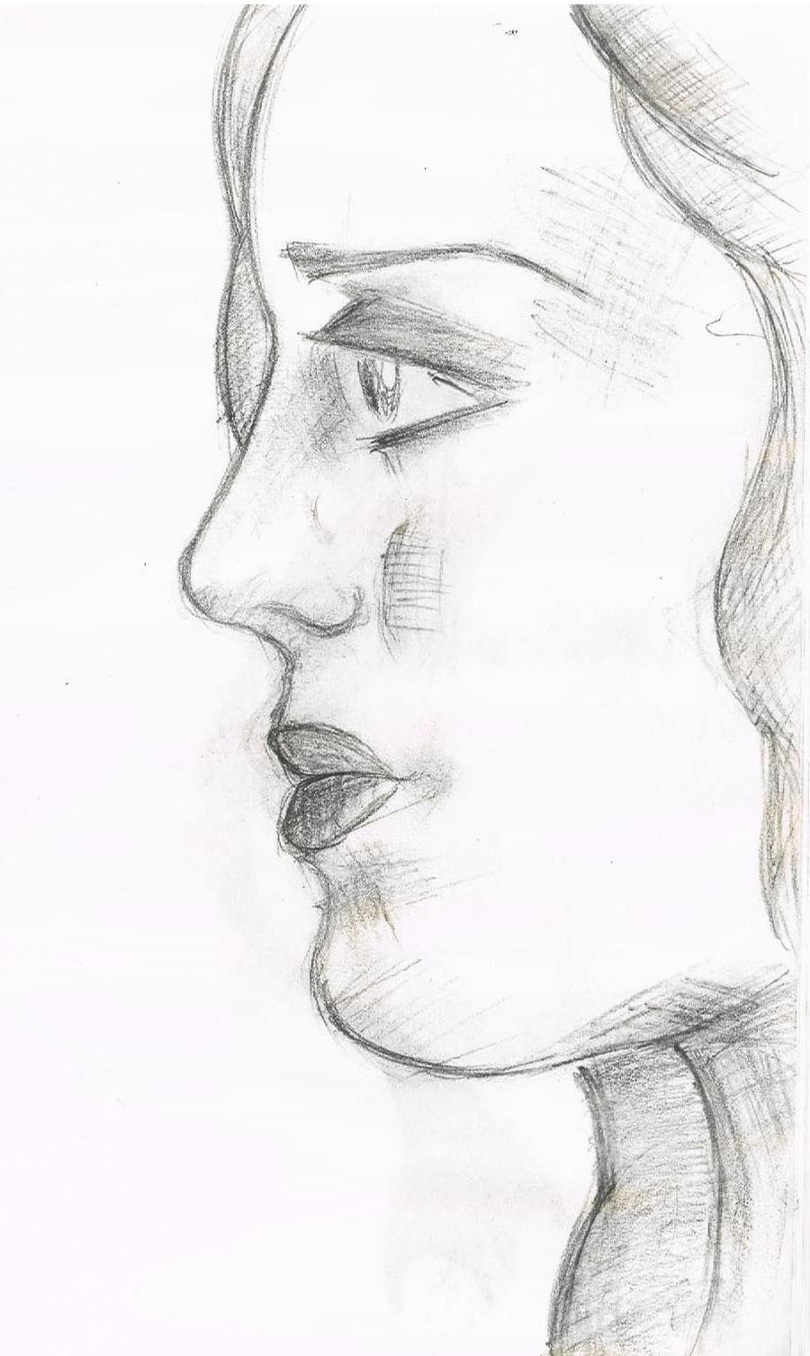 Female Face Side Profi...
