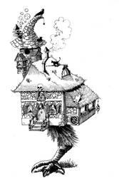 Domek na  nozce by Plebiusz