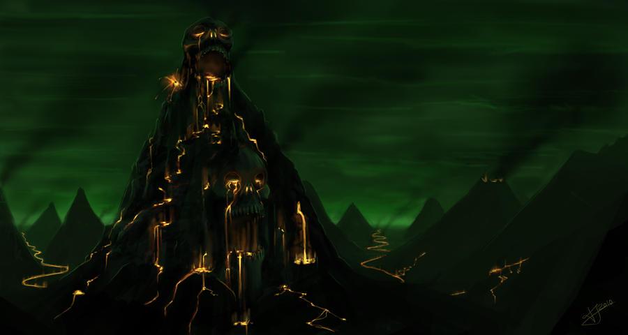Fiery Mountain by Althwen on DeviantArt: althwen.deviantart.com/art/fiery-mountain-150477272
