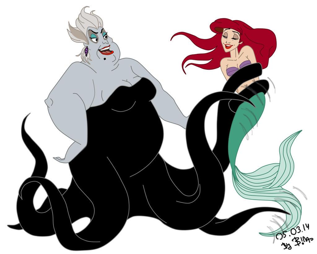 Ariel and ursula, for cegi93 by SerisaBibi on DeviantArt
