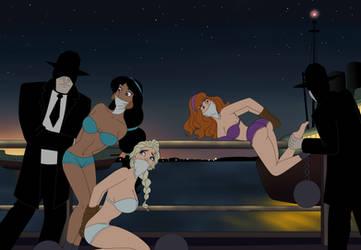 Daphne, Elsa and Jasmine by SerisaBibi