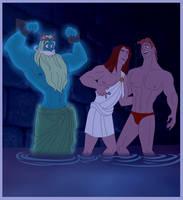 Hercules, OC Poseidon and OC Icarus