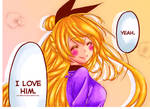 Loving Chitoge (colouring).
