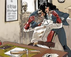 Speed Commish - Medic V Lady-Spy by KGBigelow