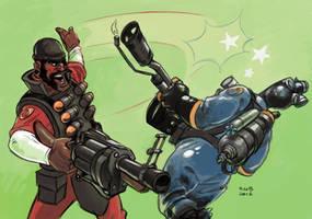 Demoman Backhands Pyro by KGBigelow