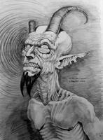 older gentleman w broken horn by KGBigelow