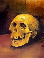 glaze painting skull by KGBigelow