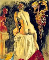 seated female nude by KGBigelow