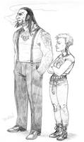 saul and fred sketch by KGBigelow
