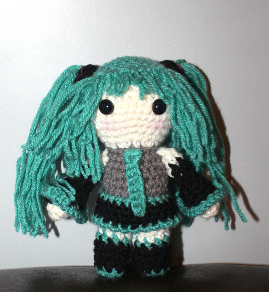 Hatsune Miku Crochet Doll by BurningElegance on DeviantArt