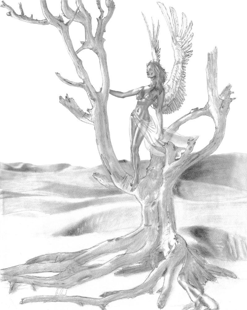 Desert Tree by Taellosse