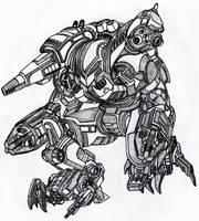 Black Mamba Power Armor by Vladimir3d