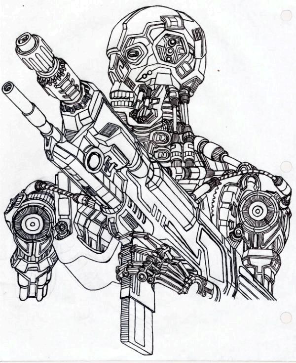 Terminator Model T-800 By Vladimir3d On DeviantArt