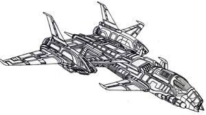 Gladiator Aerospace Fighter by Vladimir3d