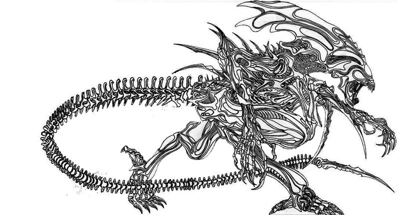 Alien Xenomorph Coloring Pages Coloring Pages