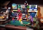 How ninjas play pool by ThePrincessRobotRoom