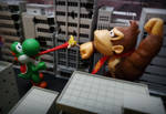 Monkey vs Lizard  by ThePrincessRobotRoom