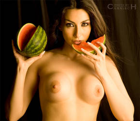 Girl and Watermelon by Carnisch