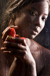 Girl, Water and Strawberries by Carnisch
