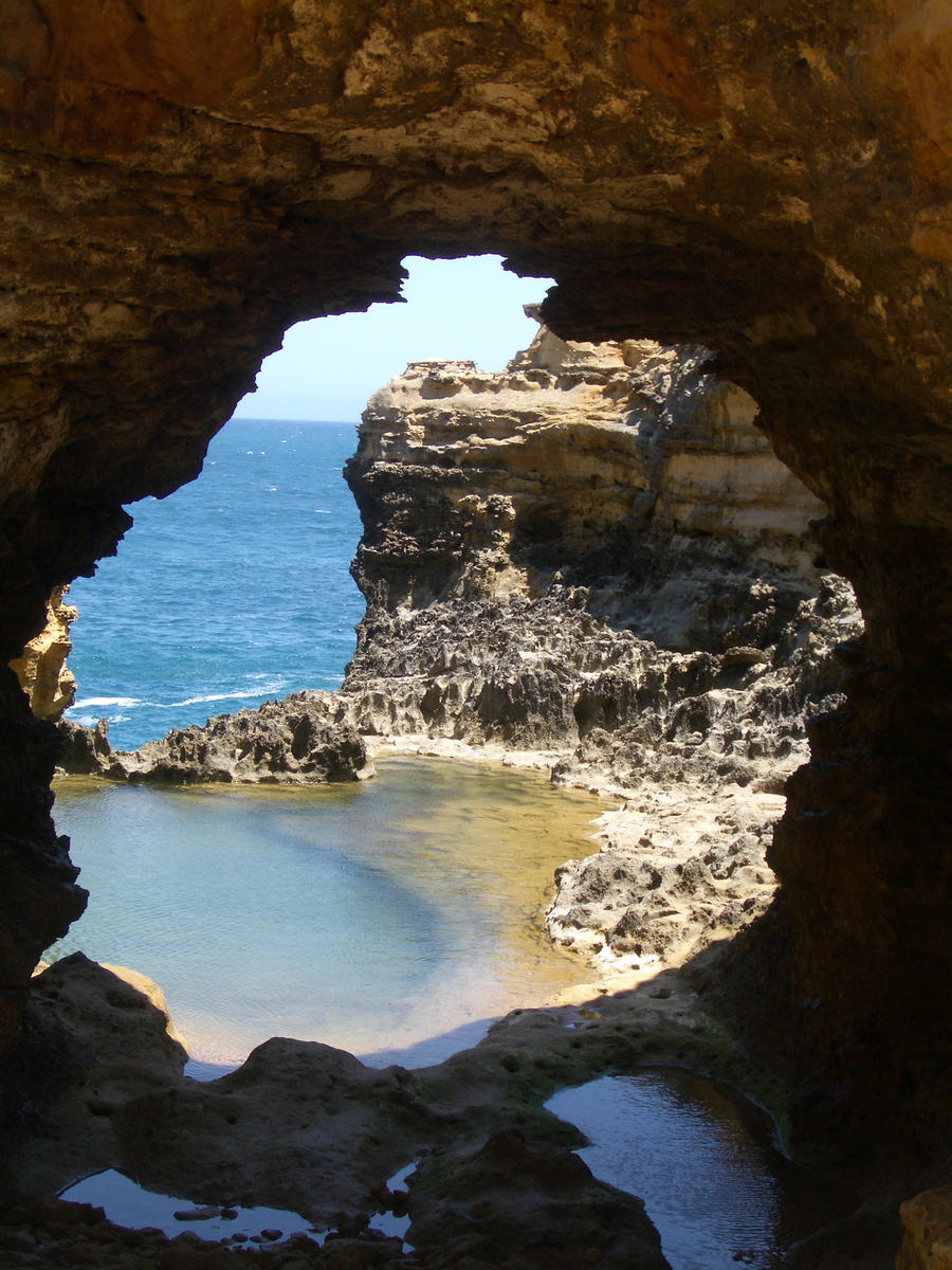 Cave window by CAStock