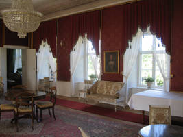 Red castle room by CAStock