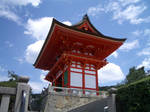 Japan red temple