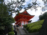 Japan temple stairs